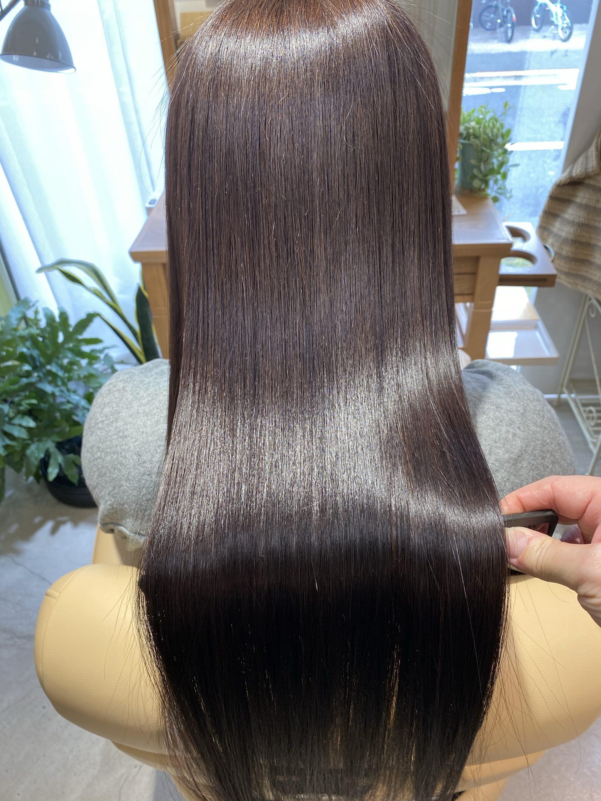 仙川 美容室 ツヤ髪質改善 縮毛矯正